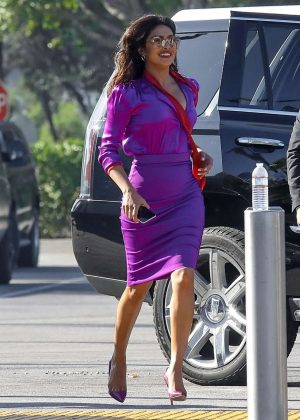 Priyanka Chopra - Filming a short commercial by the Universal Studios in Universal City