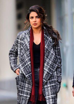 Priyanka Chopra - Filming 'Quantico' in New York City
