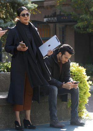 Priyanka Chopra - Filming Scenes for Season 2 of 'Quantico' in Forest Hills