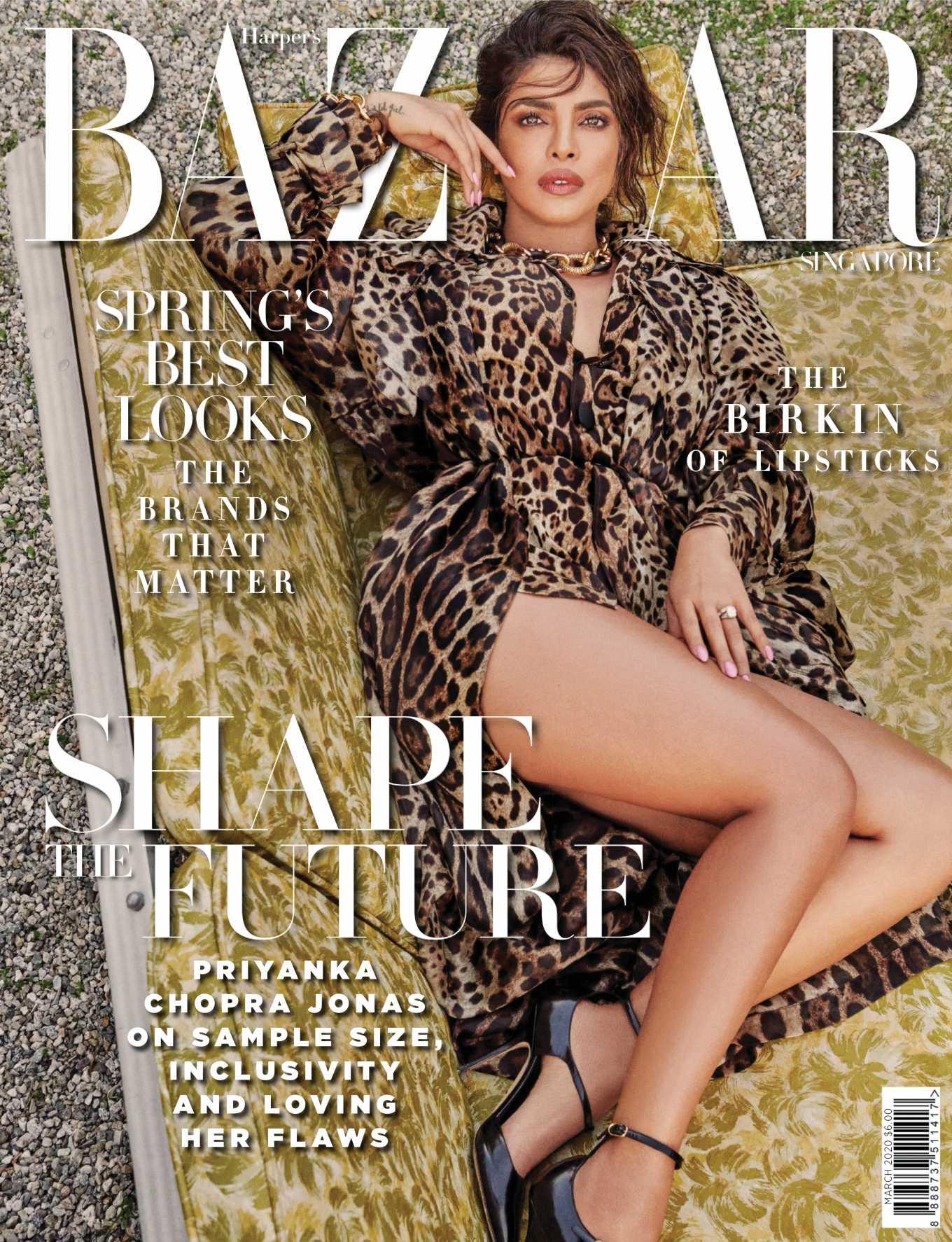 Priyanka Chopra 2020 : Priyanka Chopra – Harpers Bazaar Singapore 2020-06