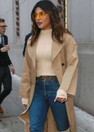 Priyanka Chopra - Heading to 'The Tonight Show with Jimmy Fallon' in New York