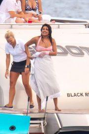 Priyanka Chopra in Bikini on a yacht in Miami