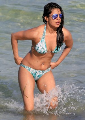 Priyanka Chopra in Bikini on the beach in Miami adds