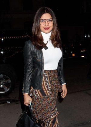 Priyanka Chopra in Leather Jacket out in NYC