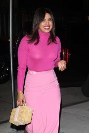 Priyanka Chopra in Pink Outfit - Out in New York