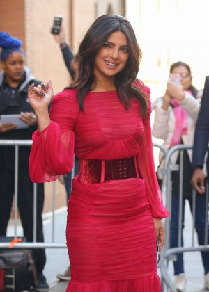 Priyanka Chopra in Red Dress - Stops by The View in NYC