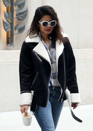 Priyanka Chopra - Leaving an office building in New York City
