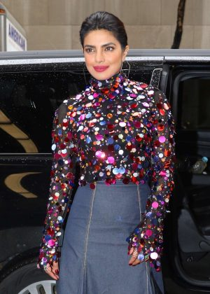 Priyanka Chopra - Leaving NBC Studios in New York