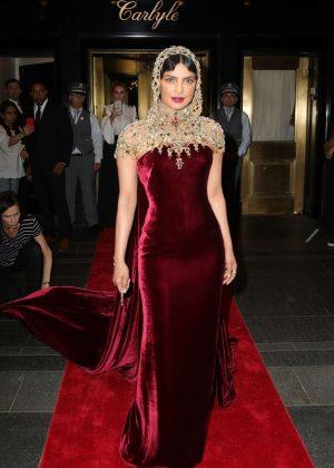 Priyanka Chopra - Leaving the Carlyle Hotel to attend Met Gala in NYC