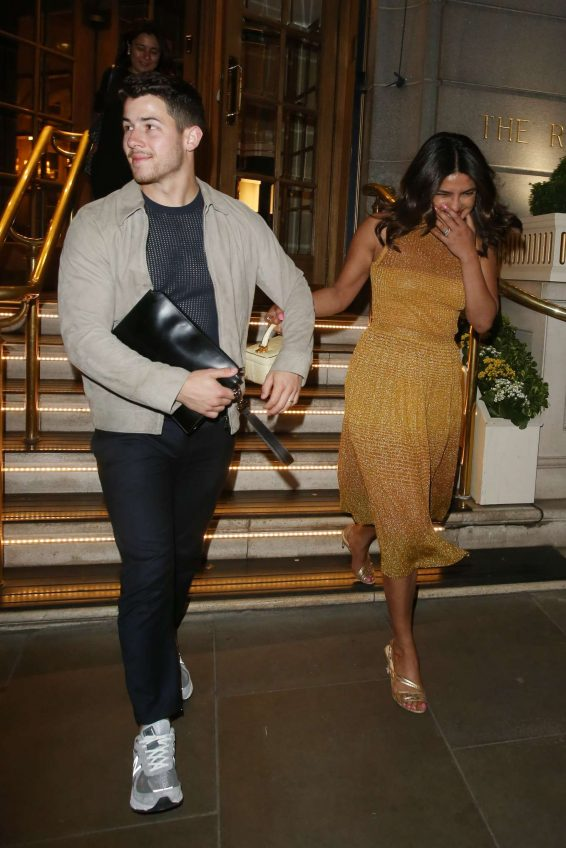Priyanka Chopra - Leaving The Ritz Hotel in London