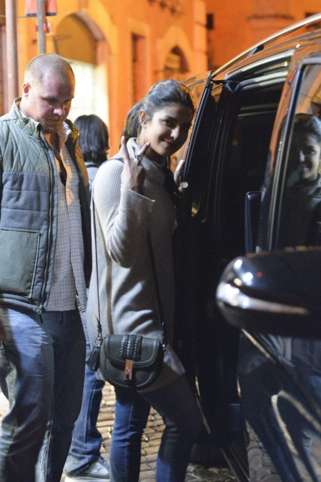 Priyanka Chopra - Night Out in Rome