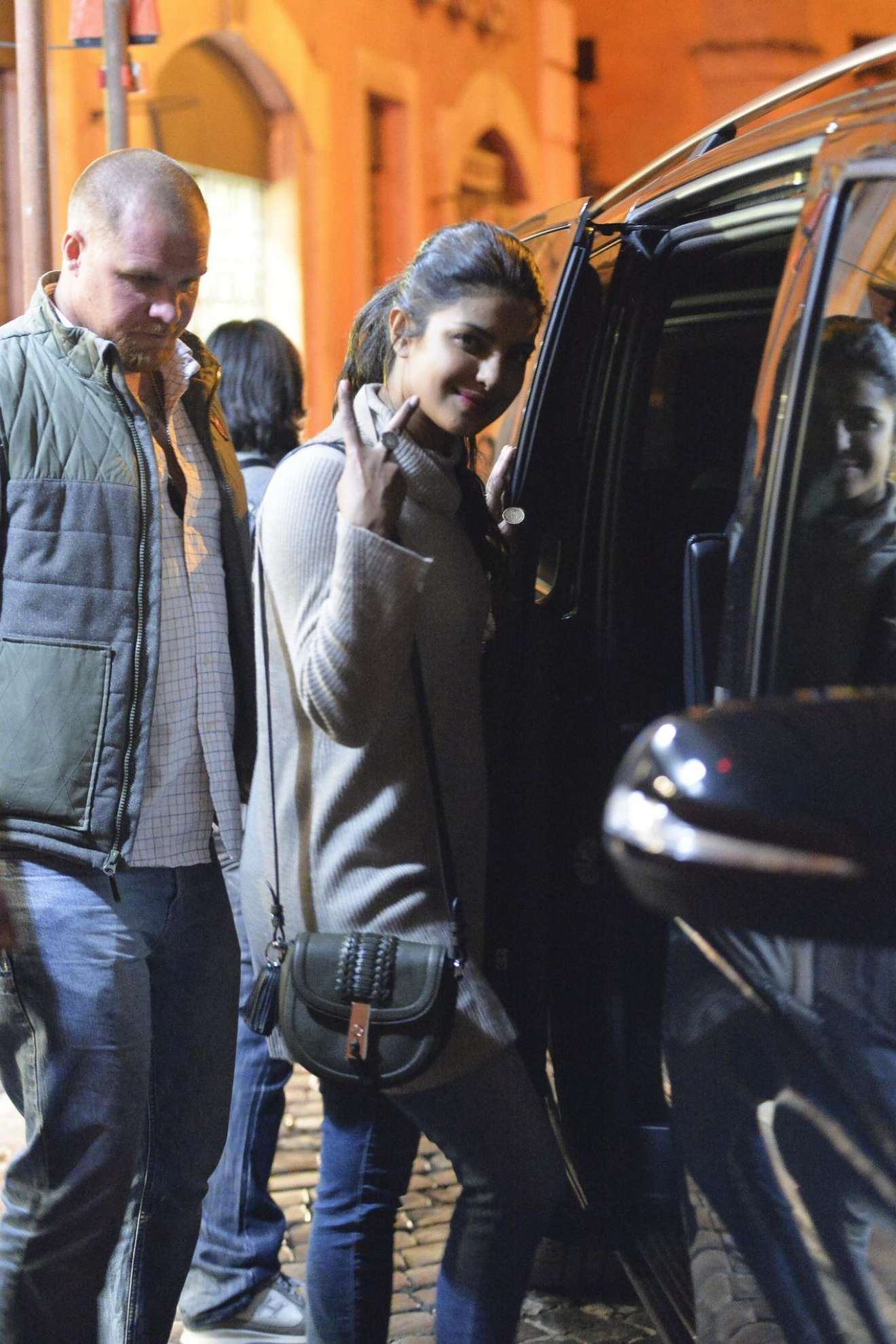 Priyanka Chopra - Night Out in Rome