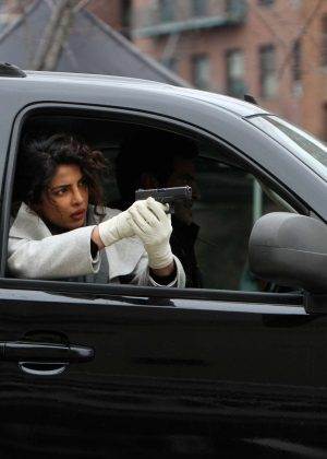 Priyanka Chopra - On set filming 'Quantico' in NYC