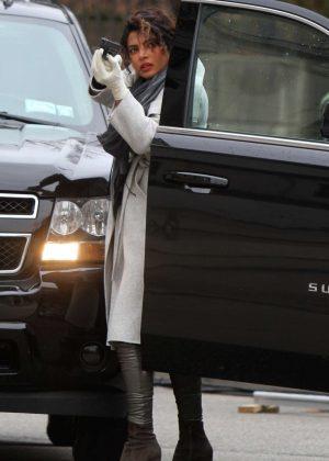 Priyanka Chopra - On set filming 'Quantico' in NYC