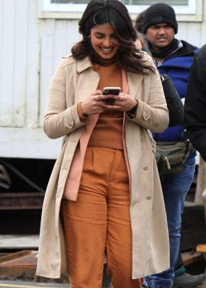 Priyanka Chopra on the 'Quantico' set in Red Hook NYC