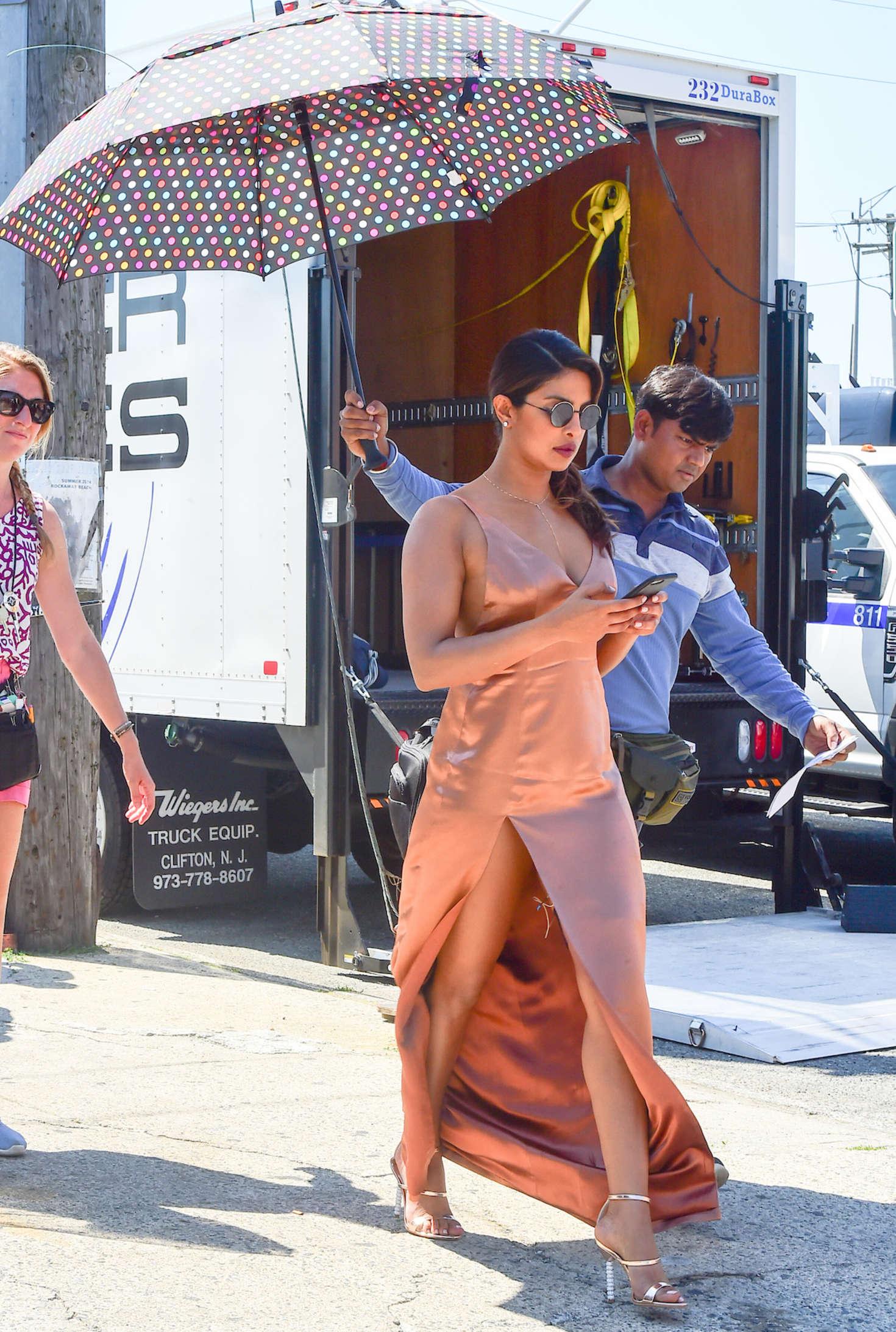 Priyanka Chopra on the set of 'Isn't It Romantic' in NYC