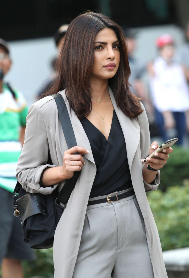 Priyanka Chopra on the set of 'Quantico' in Midtown Manhattan