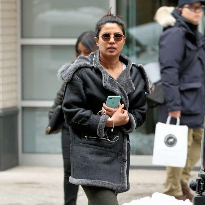 Priyanka Chopra on the set of 'Quantico' in New York