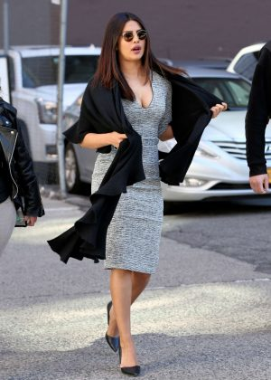 Priyanka Chopra on the set of 'Quantico' in New York
