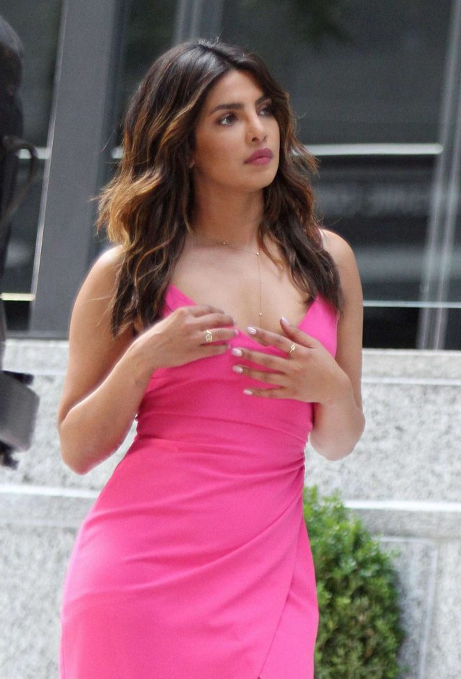 Priyanka Chopra - On the sets of 'Isn't It Romantic' in NYC