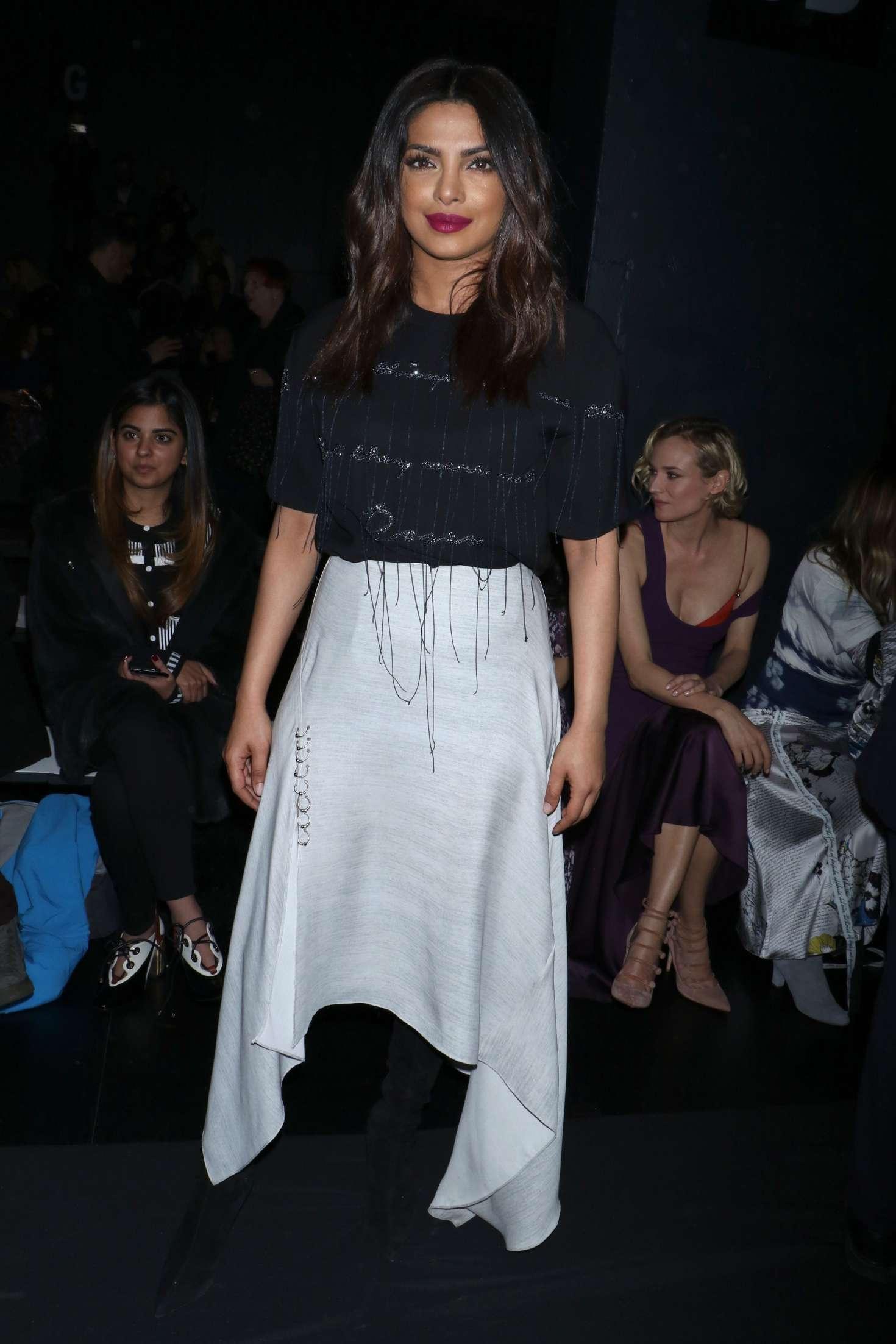 Priyanka chopra at prabal gurung fashion show at nyfw in new york new photo
