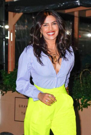 Priyanka Chopra - Seen at her new Indian restaurant Sona in New York