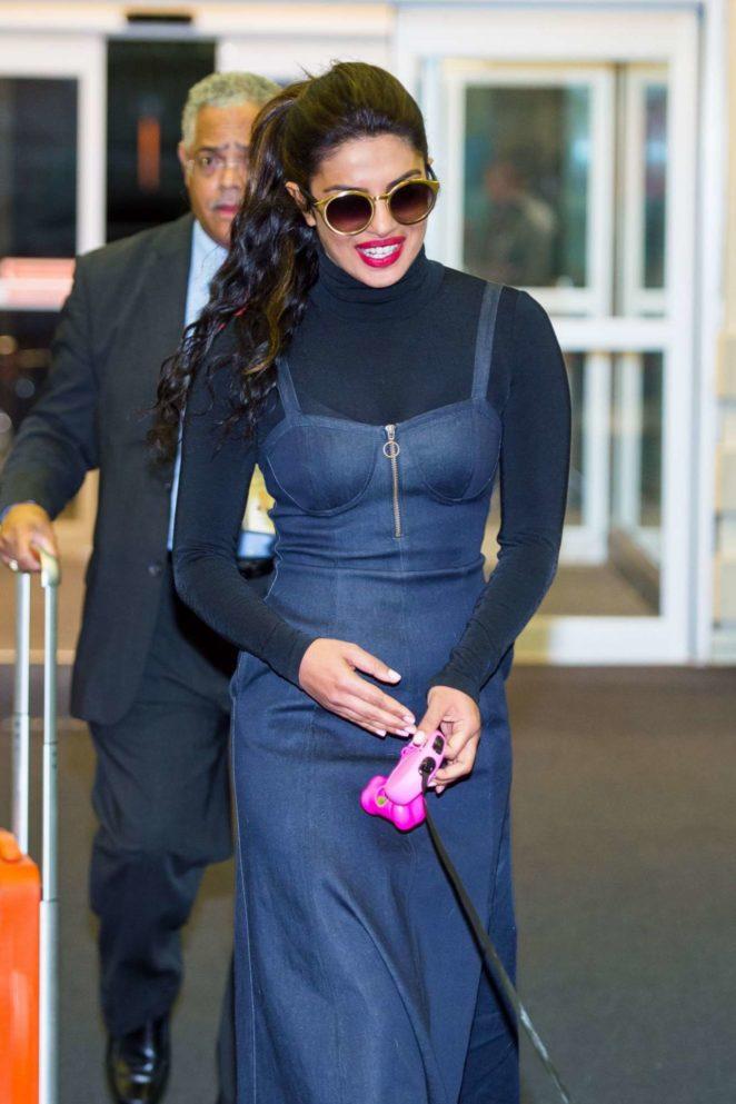 Priyanka Chopra - Seen at JFK Airport in NYC
