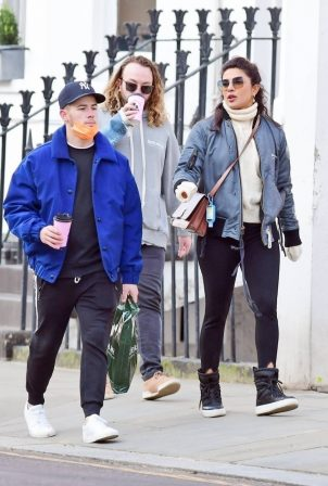 Priyanka Chopra - Seen out with family members in London