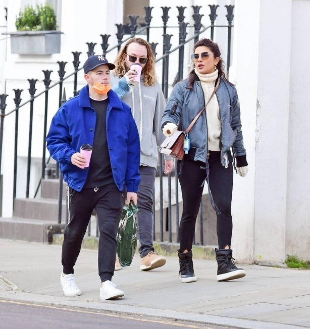 Priyanka Chopra - Seen out with family members in London