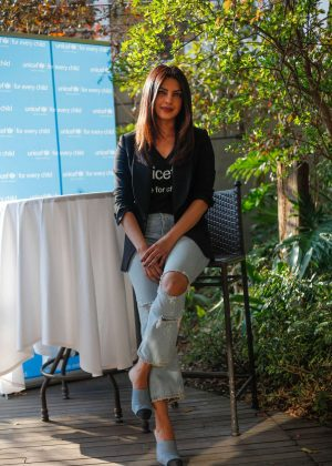 Priyanka Chopra - Unicef press conference in Johannesburg