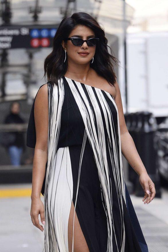 Priyanka Chopra - Wearing a fringe dress in NY