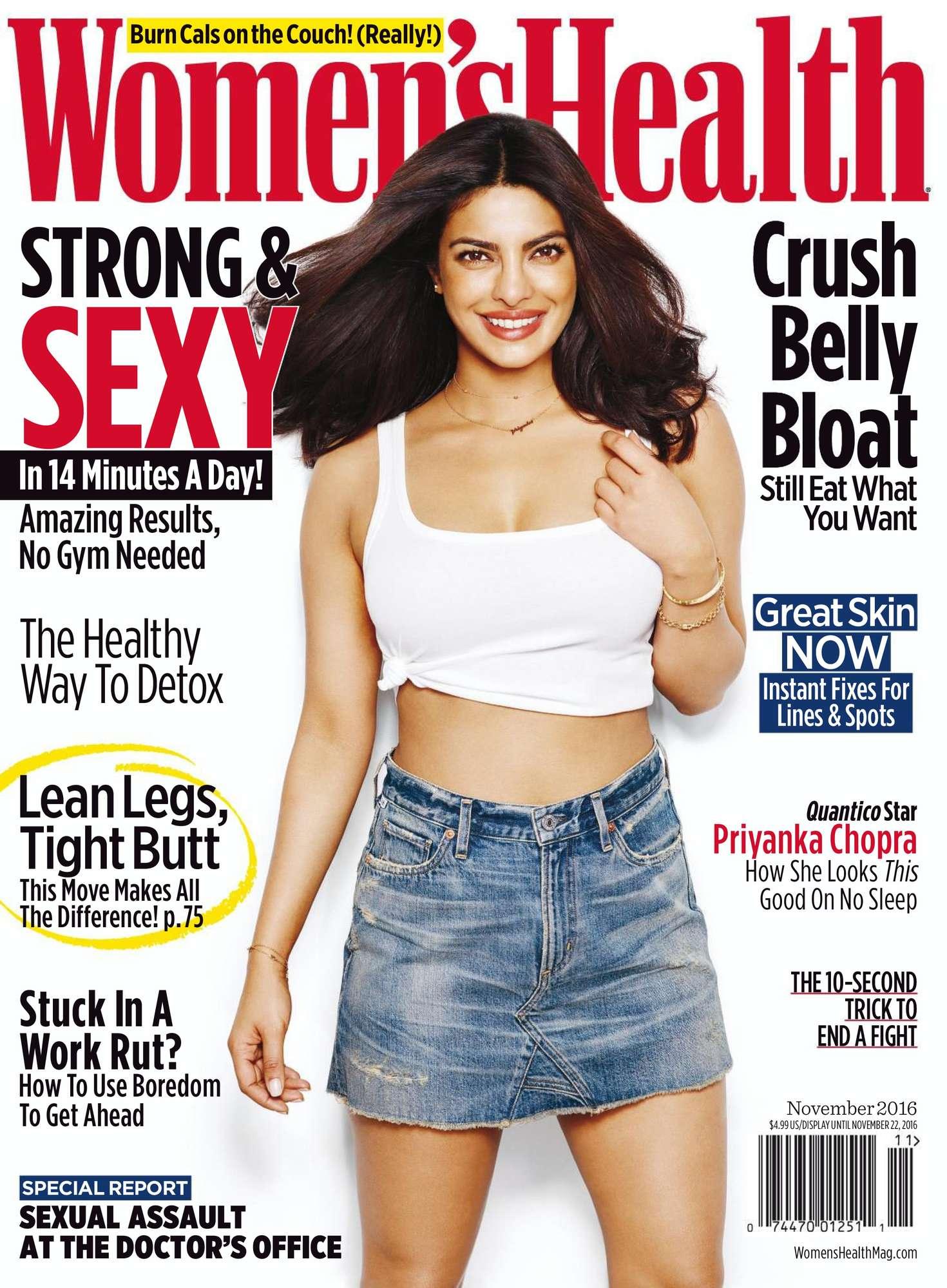 Priyanka Chopra Women 39 S Health Us Magazine November 2016
