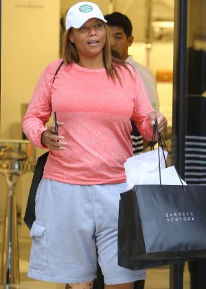 Queen Latifah at Barneys New York in Beverly Hills
