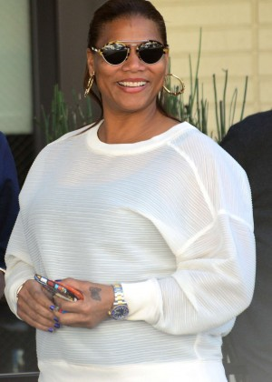 Queen Latifah at The Palm Restaurant in Beverly Hills