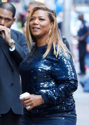 Queen Latifah - Seen At Good Morning America In New York