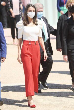 Queen Letizia of Spain - 2021 Educational Congress on Rare Disease at CPEIBas Guadalentin in Totana