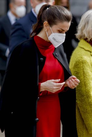 Queen Letizia of Spain - At exhibition 'Concepcion Arenal. The Humanist Passion 1820-1893' in Spain