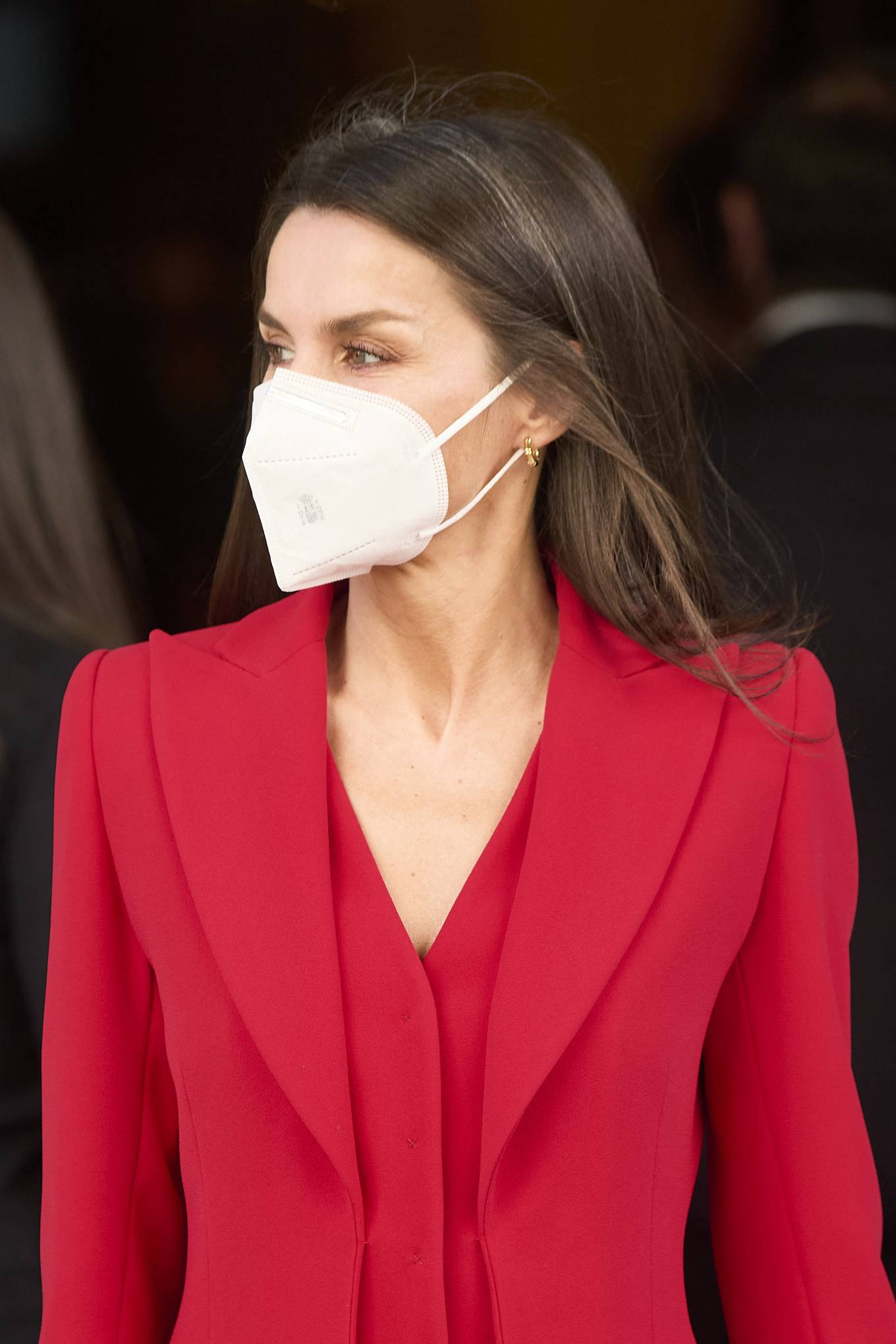 Queen Letizia Of Spain 2021 : Queen Letizia of Spain – In all red attends the tribute to the figure of Clara Campoamor in Madrid-03