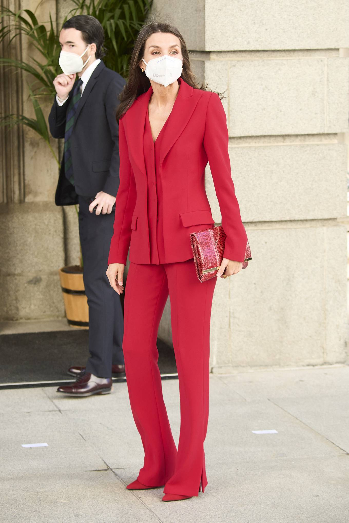 Queen Letizia Of Spain 2021 : Queen Letizia of Spain – In all red attends the tribute to the figure of Clara Campoamor in Madrid-05