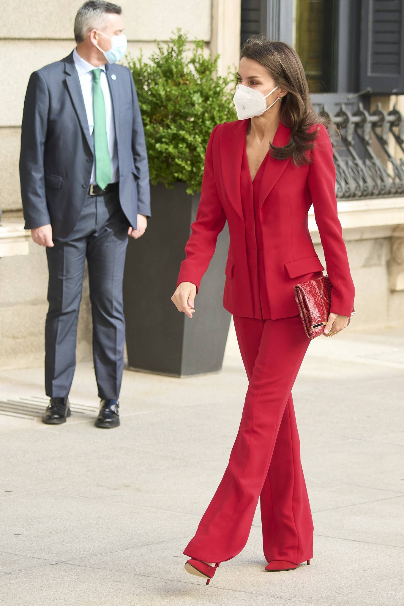 Queen Letizia Of Spain 2021 : Queen Letizia of Spain – In all red attends the tribute to the figure of Clara Campoamor in Madrid-12