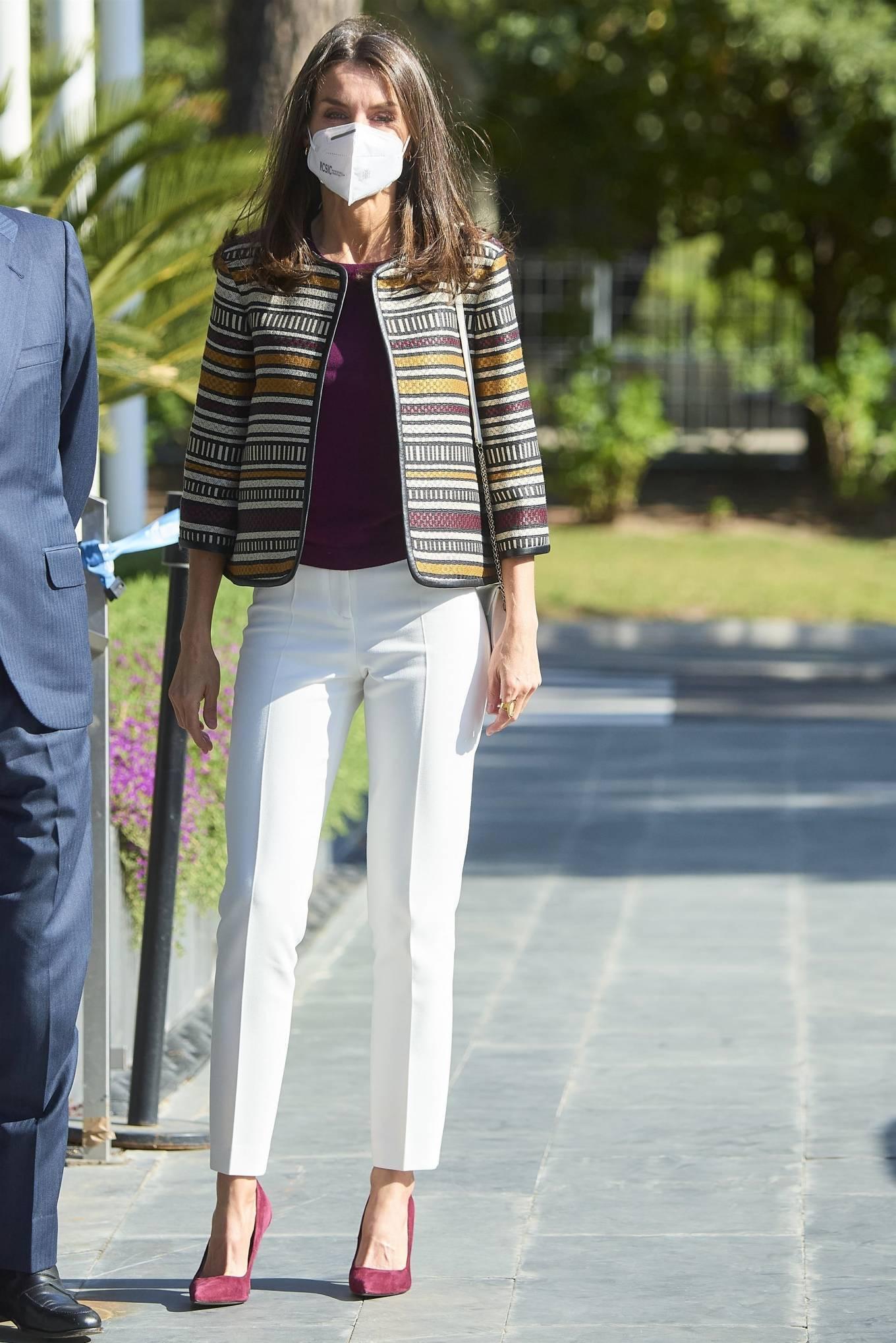 Queen Letizia of Spain - Seen at Mutua Madrilena Foundation Headquarters in Madrid