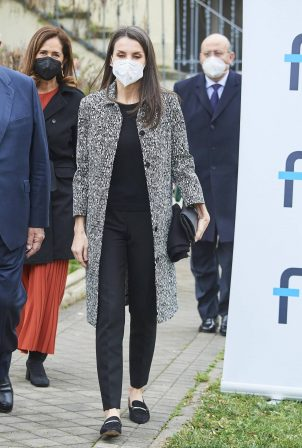 Queen Letizia of Spain - Working meeting of the Foundation for Help Against Drug Addiction
