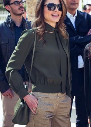 Queen Rania - Visits Amman Design Week Venue