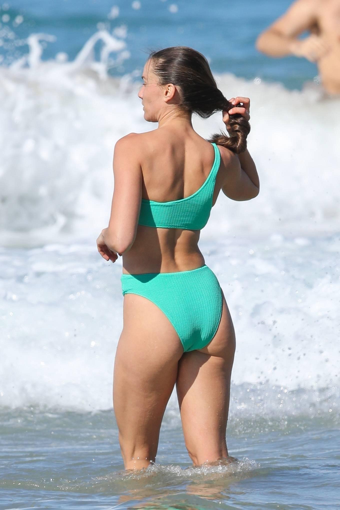 Rachael Finch - in a green bikini in Sydney