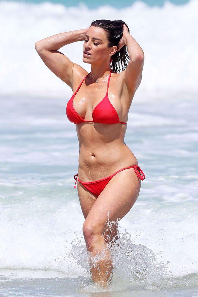 Rachael Gouvignon in Red Bikini in Perth