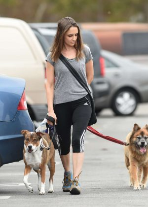 Rachael Leigh Cook with her dogs Shopping in Los Angeles