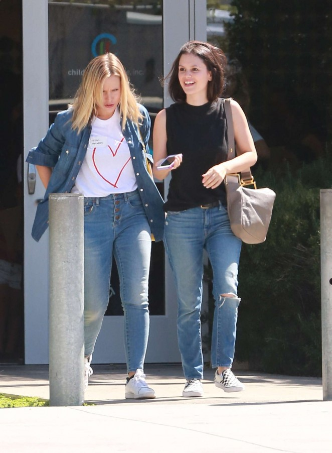 Rachel Bilson and Kristen Bell out in Los Angeles