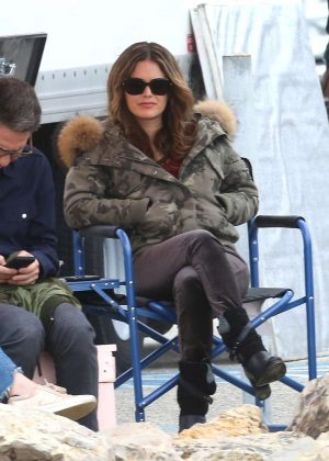 Rachel Bilson - Filming 'Take Two' TV series in Malibu