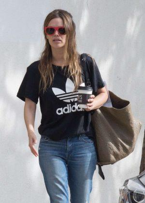 Rachel Bilson in Jeans Out For Breakfast in LA
