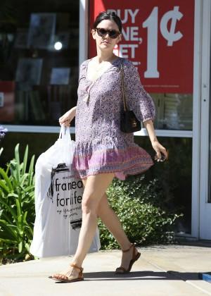 Rachel Bilson in Short Dress out in Los Angeles